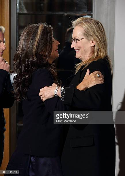 Tracey Ullman and Meryl Streep attends a photocall for Into The Woods at Corinthia Hotel London on January 7 2015 in London England