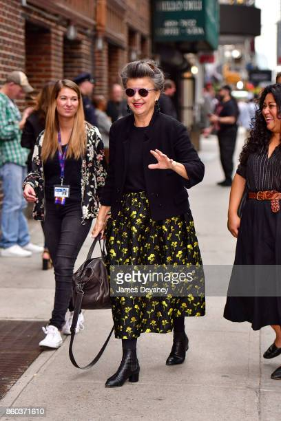Tracey Ullman arrives to the 'The Late Show With Stephen Colbert' at the Ed Sullivan Theater on October 11 2017 in New York City