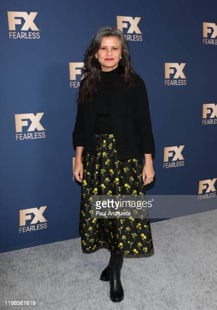 Tracey Ullman attends FX Networks' Star Walk Winter Press Tour 2020 at The Langham Huntington Pasadena on January 09 2020 in Pasadena California