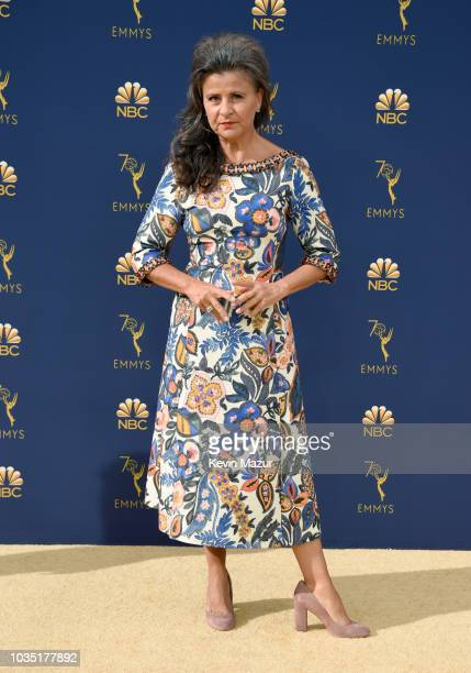 Tracey Ullman attends the 70th Emmy Awards at Microsoft Theater on September 17 2018 in Los Angeles California