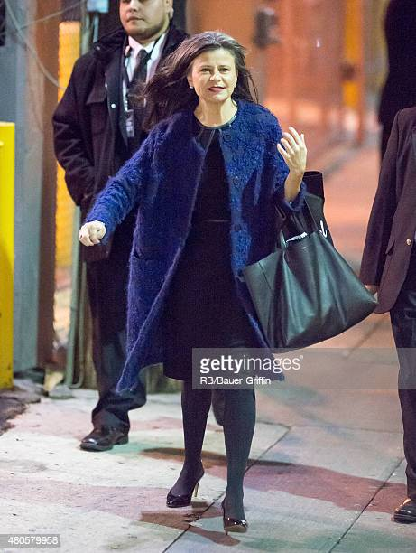 Tracey Ullman is seen at 'Jimmy Kimmel Live' on December 16 2014 in Los Angeles California