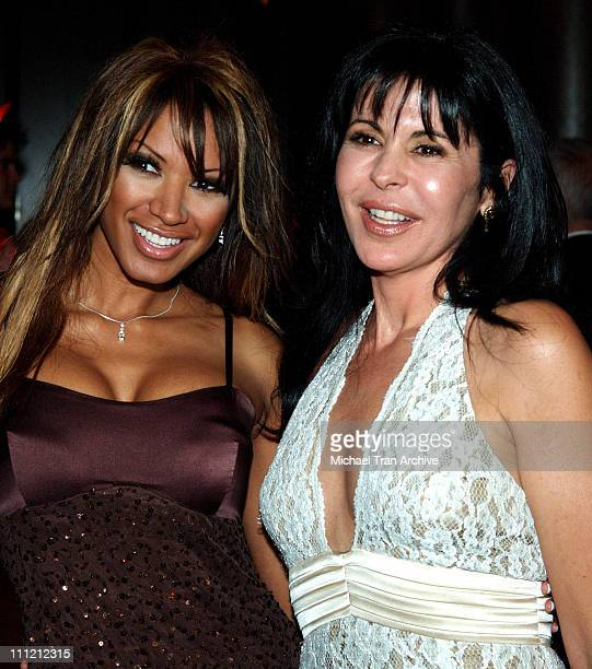 Traci Bingham and Maria Conchita Alonso during 2005 Nosotros Golden Eagle Awards at Beverly Hilton Hotel in Beverly Hills California United States