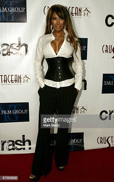 EXCLUSIVE Traci Bingham arrives at the Yari Film Group Crash Academy Party at the Crustacean Restaurant on March 4 2006 in Beverly Hills California