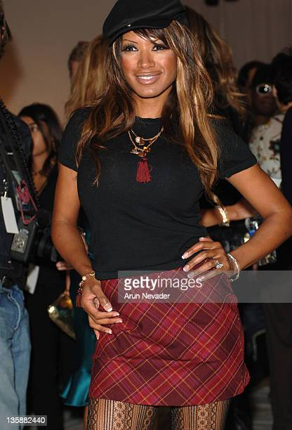 Traci Bingham during Mercedes-Benz Spring 2006 L.A. Fashion Week at Smashbox Studios - Single - Front Row at Smashbox Studios in Culver City,...