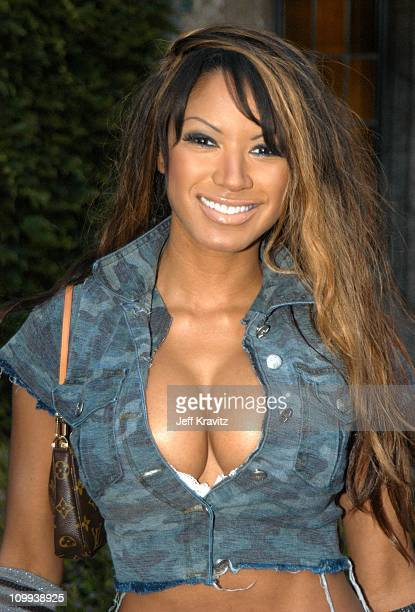 Traci Bingham during The Official Launch Party For Spike TV At The Playboy Mansion Arrivals at The Playboy Mansion in Bel Air California United States