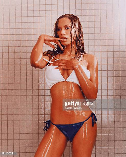 Traci Bingham in the Shower