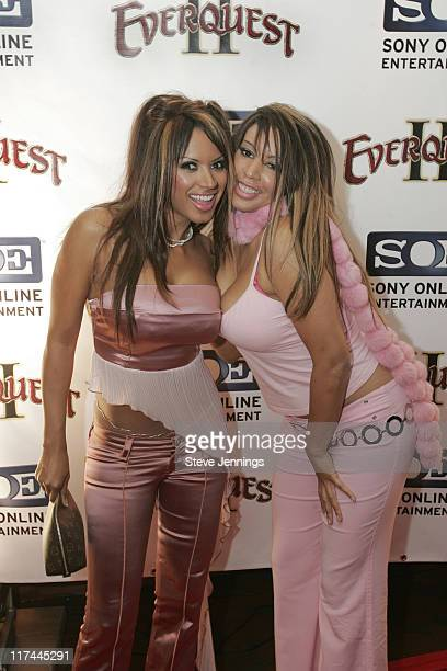 """Traci Bingham with sister during Sony Online Entertainment Premieres """"Everquest II"""" at Ruby Skye in San Francisco, California, United States."""