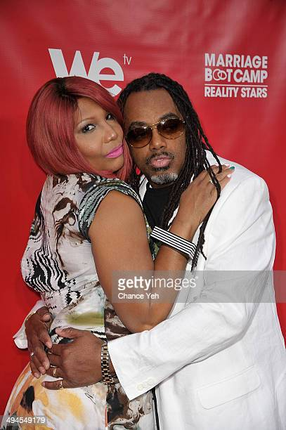 Traci Braxton and Kevin Surrant attend the Marriage Boot Camp: Reality Stars event at Catch Rooftop on May 29, 2014 in New York City.