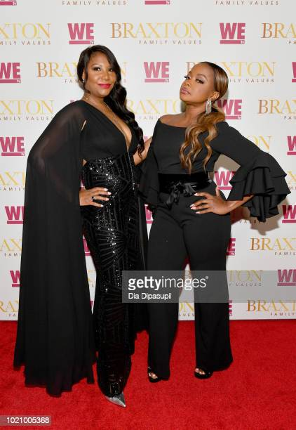 Traci Braxton and Phaedra Parks attend WE tv and Traci Braxton celebrate the new season of Braxton Family Values at The Skylark on August 21, 2018 in...