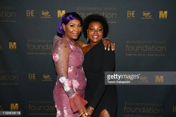 """Traci Braxton and Taraji P. Henson attend The Boris Lawrence Henson Foundation Hosts Inaugural """"Can We Talk?"""" Benefit Dinner at The Newseum on June..."""