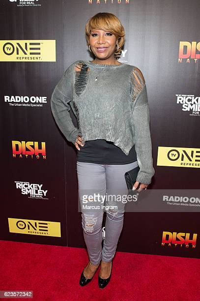 "Traci Braxton attends TV One ""Rickey Smiley For Real"" live watch party at The Gathering Spot on November 15, 2016 in Atlanta, Georgia."