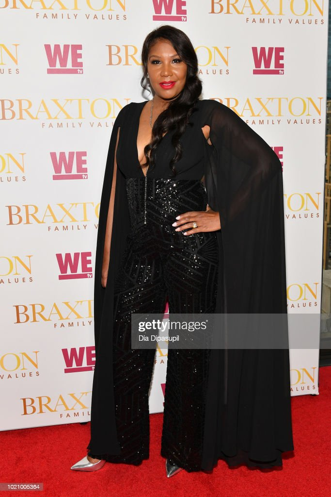 Traci Braxton attends WE tv and Traci Braxton celebrate the new season of Braxton Family Values at The Skylark on August 21, 2018 in New York City.