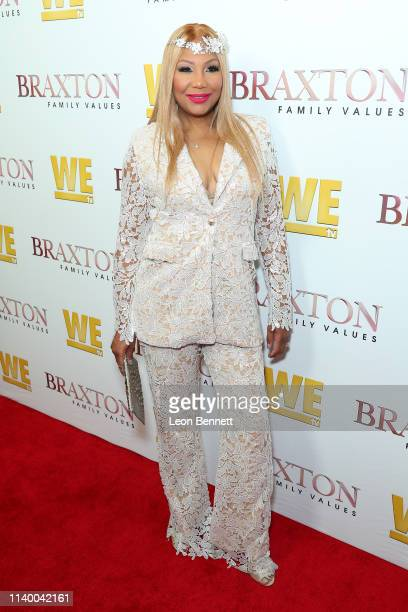 "Traci Braxton attends WE tv's ""Braxton Family Values"" Season 6 Premiere at The Doheny Room on April 02, 2019 in West Hollywood, California."