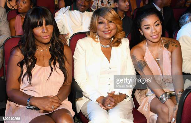 Traci Braxton, Evelyn Braxton, and Keyshia Cole at 2017 BET Awards at Microsoft Theater on June 25, 2017 in Los Angeles, California.