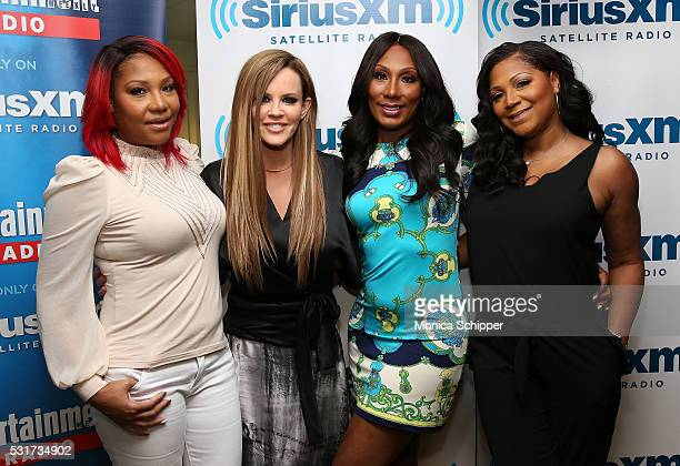 Traci Braxton, Towanda Braxton and Trina Braxton visit 'Dirty, Sexy, Funny with Jenny McCarthy' at SiriusXM Studio on May 16, 2016 in New York City.