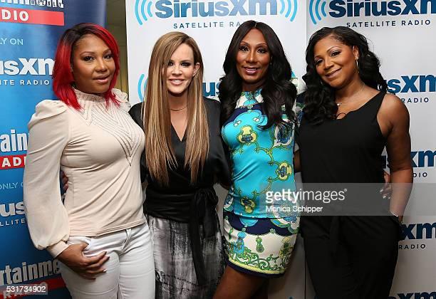 Traci Braxton, Towanda Braxton and Trina Braxton visit 'Dirty, Sexy, Funny with Jenny McCarthy' at SiriusXM Studio on May 16, 2016 in New York City.