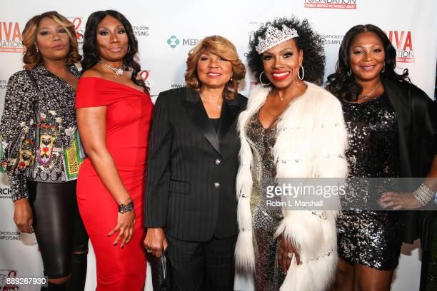 Traci Braxton, Towanda Braxton, Evelyn Braxton, Sheryl Lee Ralph and Trina Braxton attend Sheryl Lee Ralph's 27th Annual DIVAS Simply Singing event...