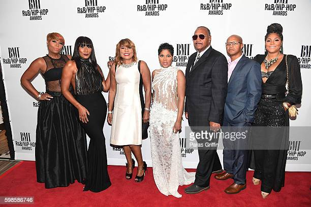 Traci Braxton, Towanda Braxton, Evelyn Braxton, Toni Braxton, Michael Braxton Sr., Michael Braxton Jr, and Trina Braxton attend the 2016 BMI...