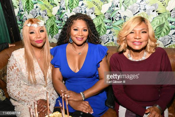 "Traci Braxton, Trina Braxton, and Evelyn Braxton are seen as We TV celebrates the premiere of ""Braxton Family Values"" at Doheny Room on April 02,..."