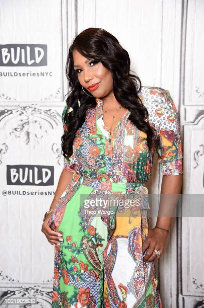 Traci Braxton visits Build at Build Studio on August 23, 2018 in New York City.