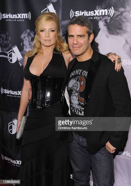 Traci Lords and Andy Cohen attend SiriusXM's 'One Night Only' at Studio 54 on October 18 2011 in New York City