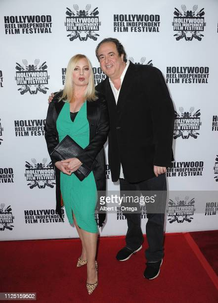 Traci Lords and Nick Vallelonga arrive for The 2019 Hollywood Reel Independent Film Festival held at Regal LA Live Stadium 14 on February 15 2019 in...