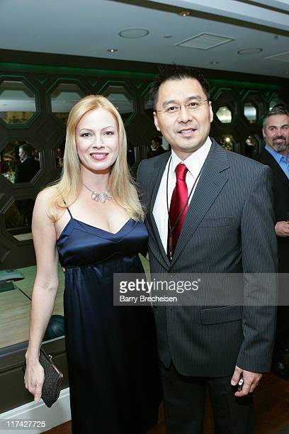 Traci Lords Leo Chen during SpectronIQ / Kerner Optical CES Party at Hard Rock Hotel and Casino in Las Vegas Nevada United States