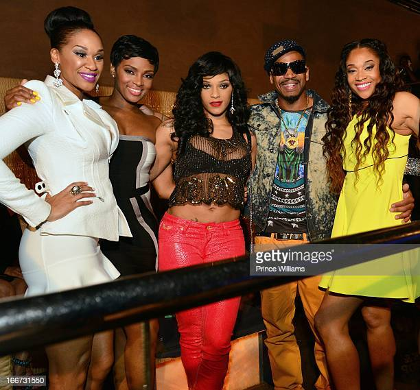 Traci Steel Ariane Davis Joseline Hernandez Stevie J and Mimi Faust attendsthe press reception of The Love Hip Hop event at Cream Ultra Lounge on...