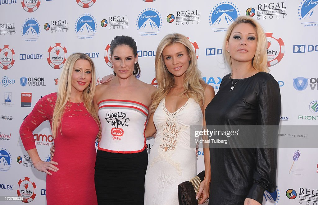 Traci Szymanski, actresses Tiffany Michelle, Joanna Krupa and Shanna Moakler attend the 3rd Annual Variety Charity Texas Hold 'Em Tournament & Casino Game at Paramount Studios on July 17, 2013 in Hollywood, California.