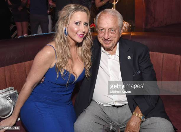 Traci Szymanski and baseball Hall of Famer Tommy Lasorda at the Heroes for Heroes: Los Angeles Police Memorial Foundation Celebrity Poker Tournament...