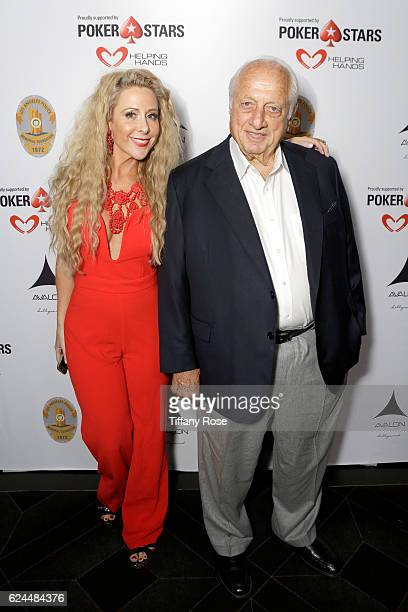 Traci Szymanski and Former baseball player Tommy Lasorda attend the Los Angeles Police Memorial Foundation Celebrity Poker Tournament and Party held...