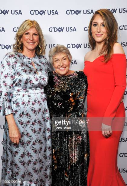 Traci Wald Donat and Honoree Helen Reddy attend the 2019 G'Day USA Gala at 3LABS on January 26, 2019 in Culver City, California.