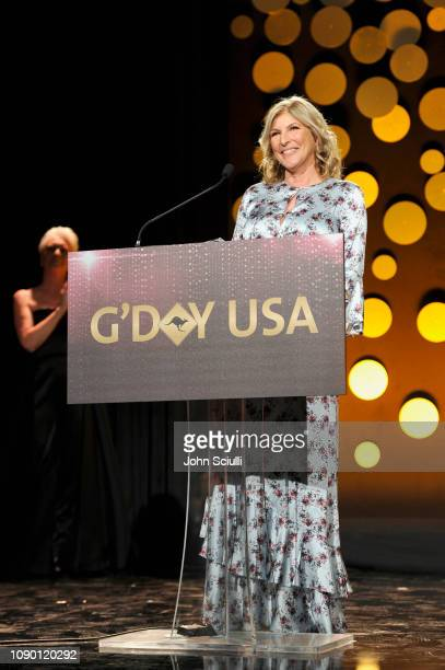 Traci Wald Donat speaks onstage during the 2019 G'Day USA Gala at 3LABS on January 26 2019 in Culver City California