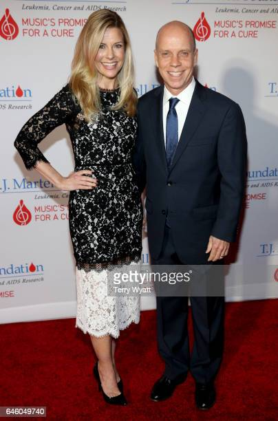 Tracie and Scott Hamilton attend the TJ Martell Foundation 9th Annual Nashville Honors Gala at Omni Hotel on February 27 2017 in Nashville Tennessee