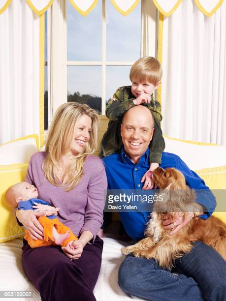 Tracie and Scott Hamilton with sons Maxx and Aidan at home in Nashville Tennessee