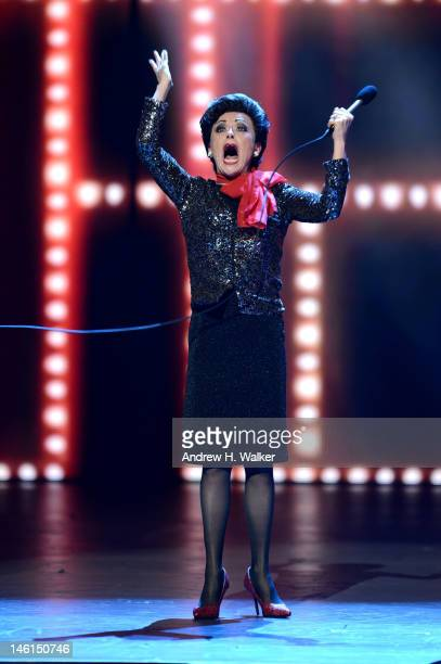 Tracie Bennett performs as Judy Garland onstage at the 66th Annual Tony Awards at The Beacon Theatre on June 10 2012 in New York City