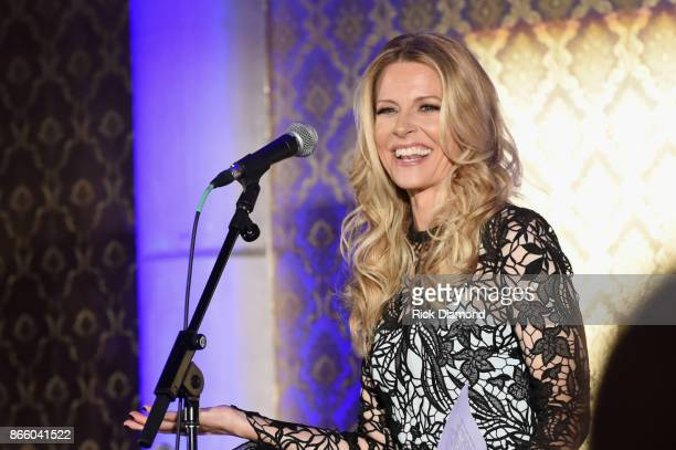 Tracie Hamilton of J/P HRO speaks onstage at Nashville Shines for Haiti benefiting Sean Penn's J/P Haitian relief organization featuring Tim McGraw...