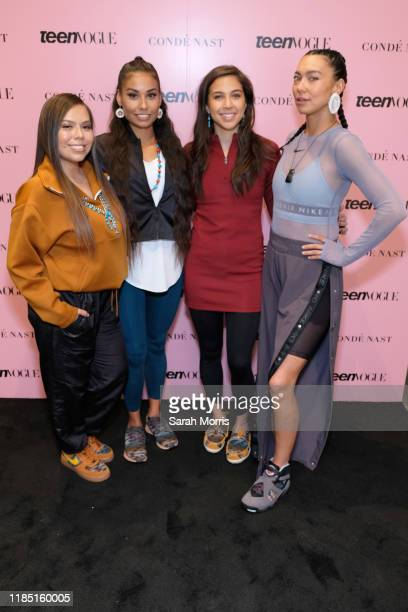 Tracie Jackson Shiloh Lebeau Jude Schimmel and Sarain Fox attend the 2019 Teen Vogue Summit at Goya Studios on November 02 2019 in Hollywood...