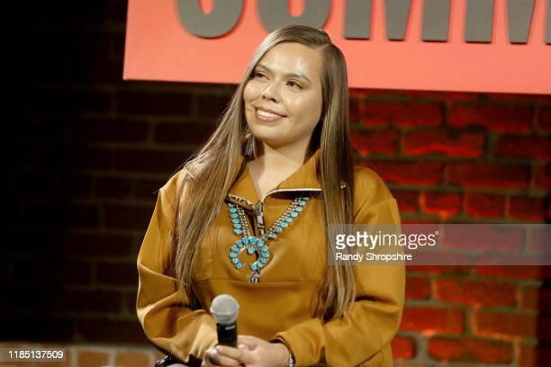 Tracie Jackson speaks on stage at the Teen Vogue Summit 2019 at Goya Studios on November 02 2019 in Los Angeles California