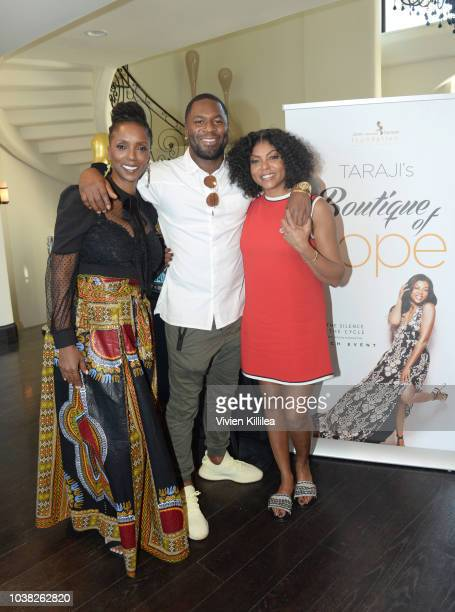 Tracie Jade Taraji P Henson and Kelvin Hayden attend Taraji's Boutique Of Hope Launch Of The Boris Lawrence Henson Foundation on September 22 2018 in...