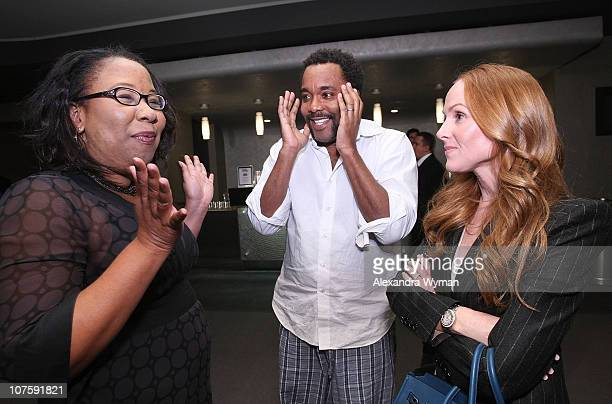 Tracie Lewis director Lee Daniels and producer Sarah SiegelMagness at Film Independent's Screening of Precious held at The Pacific Design Center on...