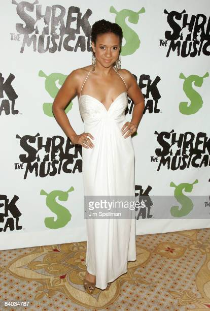"""Tracie Thoms attends the opening night party for """"Shrek The Musical"""" on Broadway at the Plaza hotel on December 14, 2008 in New York City."""