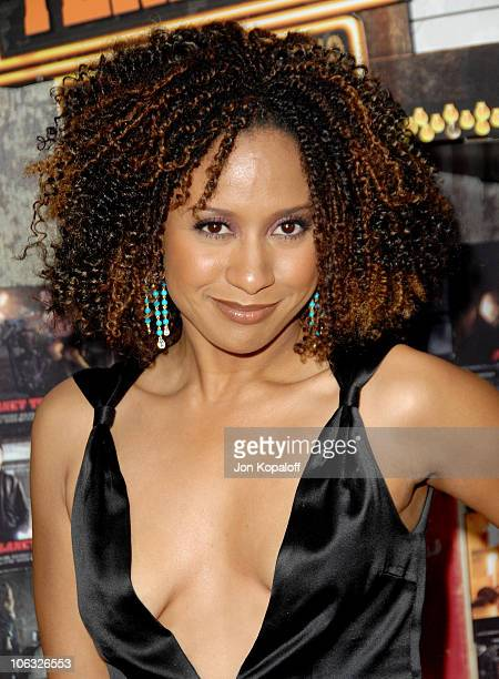 Tracie Thoms during 'Grindhouse' Los Angeles Premiere Arrivals at Orpheum Theatre in Los Angeles California United States