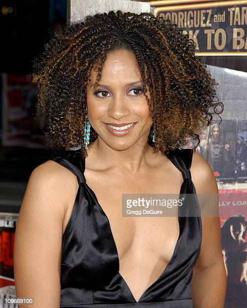 Tracie Thoms during 'Grindhouse' Los Angeles Premiere Arrivals at The Orpheum Theatre in Los Angeles California United States