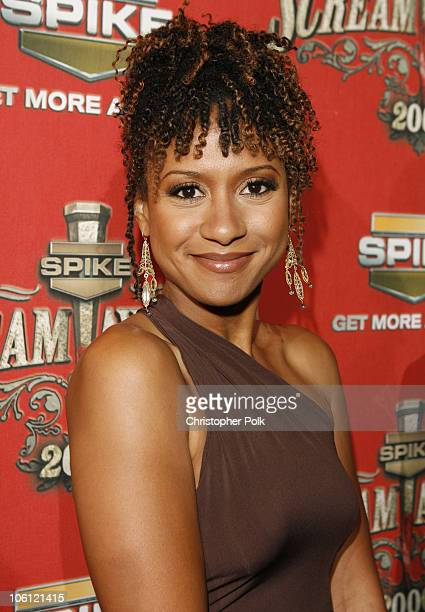 Tracie Thoms during Spike TV's 'Scream Awards 2006' Red Carpet at Pantages Theater in Hollywood California United States