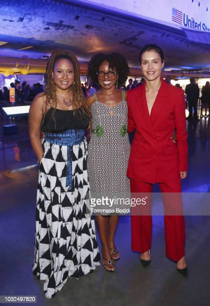 Tracie Thoms LisaGay Hamilton and Hannah Ware attend Hulu's The First Los Angeles Premiere on September 12 2018 in Los Angeles California