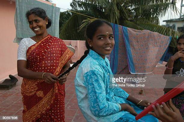 Tracing the Tsunami orphans Gunawathy with her aunty living in a rented flat in Nagapattinam Tamil Nadu They featured in India today magazine dated...