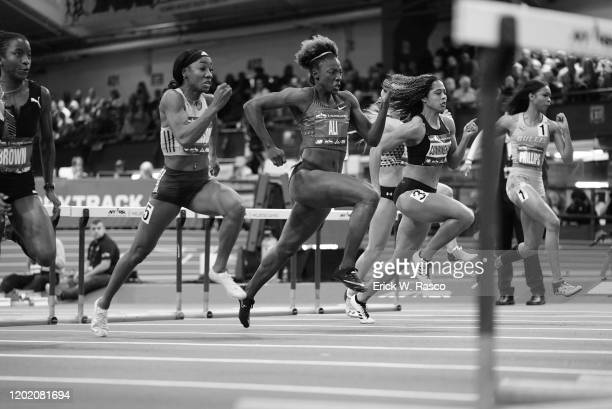 113th NYRR Millrose Games: USA Kendra Harrison and USA Nia Ali in action during Women's 60M Hurdles at The Armory. New York, NY 2/8/2020 CREDIT:...
