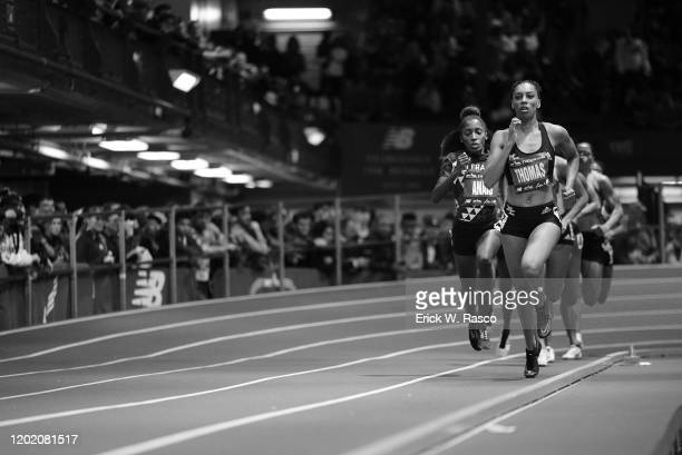 113th NYRR Millrose Games: USA LaTavia Thomas and France Cynthia Anais in action during Women's 800M at The Armory. New York, NY 2/8/2020 CREDIT:...