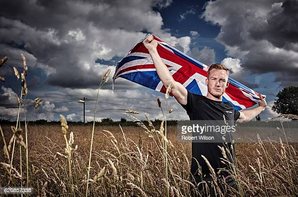 Track and field athlete Greg Rutherford is photographed for the Times on July 3 2016 in Woburn Sands England